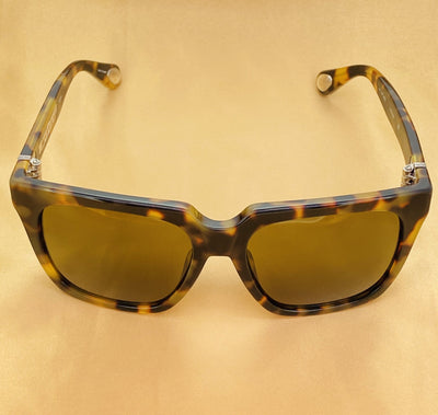 Ann Demeulemeester Sunglasses Oversized Tortoise Shell with Brown Lenses CAT3 AD21C2SUN - Watches & Crystals