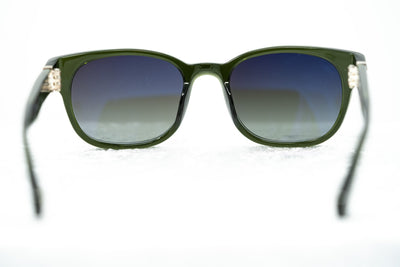 Ann Demeulemeester Sunglasses Rectangular Green 925 Silver with Green Graduated Lenses Category 3 AD15C11SUN - Watches & Crystals