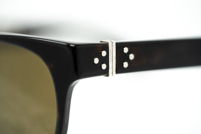 Ann Demeulemeester Sunglasses Rectangular Tortoise Shell 925 Silver with Brown Lenses Category 3 AD15C9SUN - Watches & Crystals