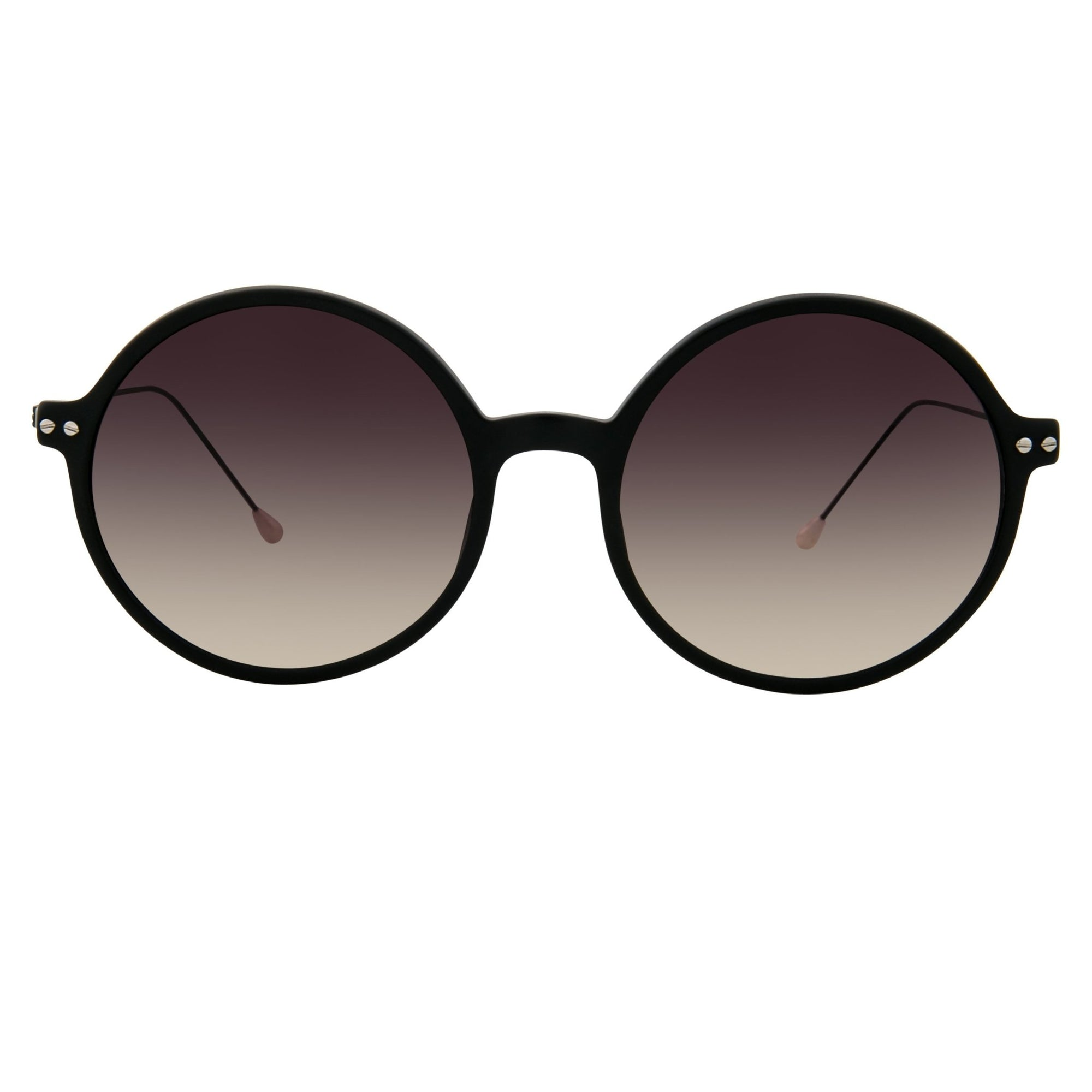 Ann Demeulemeester Sunglasses Round Matte Black 925 Silver with Grey Graduated Lenses CAT3 AD54C3SUN - Watches & Crystals