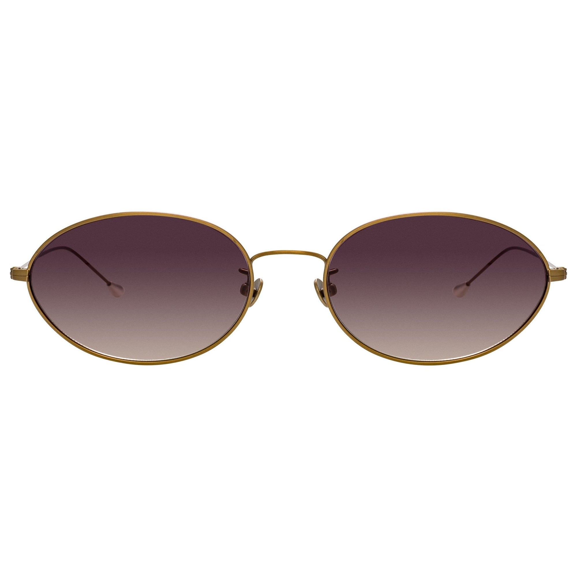 Ann Demeulemeester Sunglasses Titanium Oval Bronze 925 Silver with Grey Lenses CAT3 AD62C3SUN - Watches & Crystals