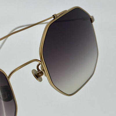 Ann Demeulemeester Titanium Sunglasses Square Bronze with Grey Graduated Lenses CAT3 AD52C3SUN - Watches & Crystals