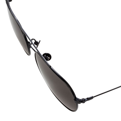 Ann Demeulemeester Titanium Sunglasses Square Shiny Black 925 Silver CAT3 AD63C1SUN - Watches & Crystals