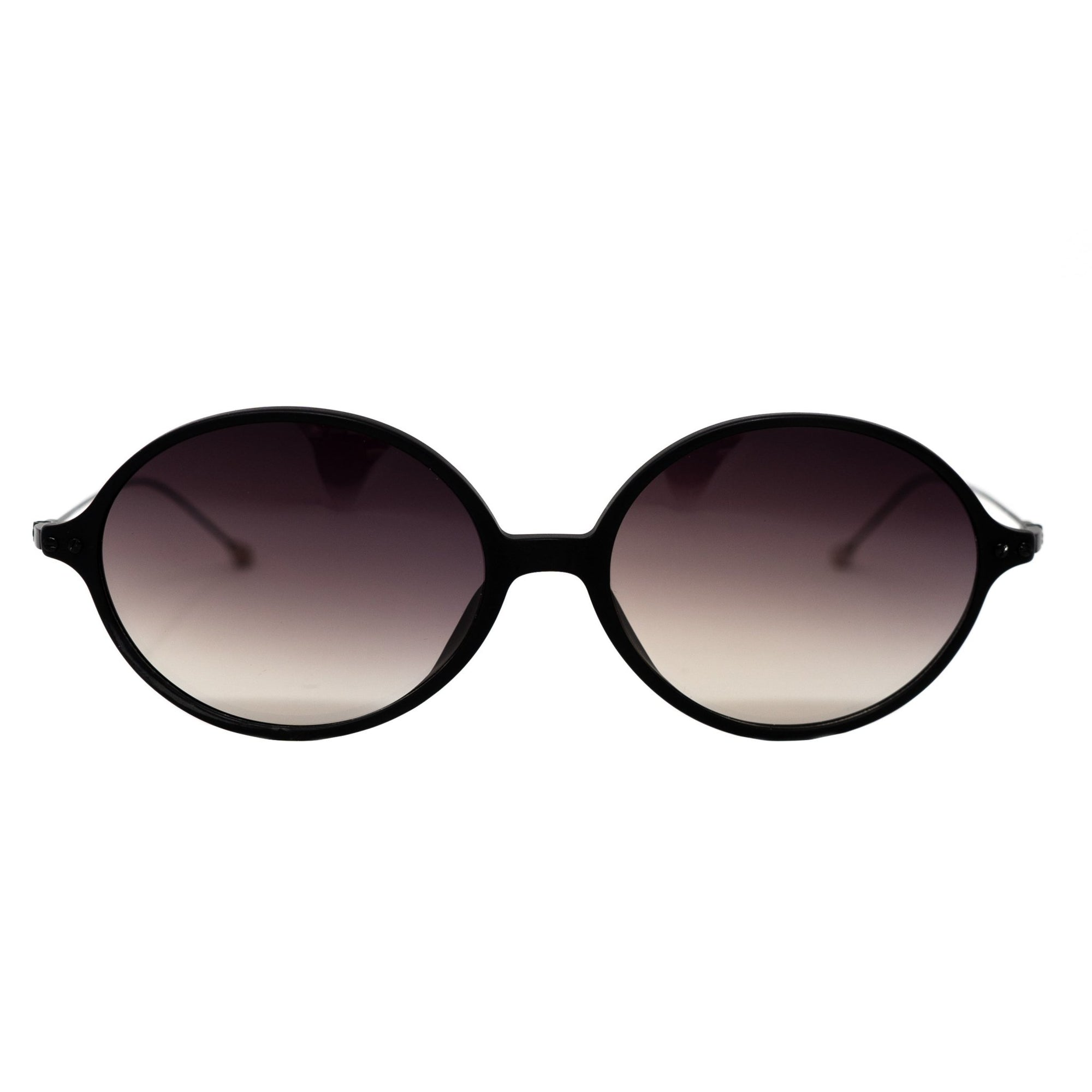 Ann Demeulemeester Unisex Sunglasses Oval Matte Black 925 Silver Titanium with Grey Graduated Lenses Category 3 AD64C3SUN - Watches & Crystals
