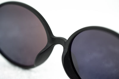 Ann Demeulemeester Unisex Sunglasses Oval Matte Black 925 Silver Titanium with Grey Lenses Category 3 AD64C4SUN - Watches & Crystals