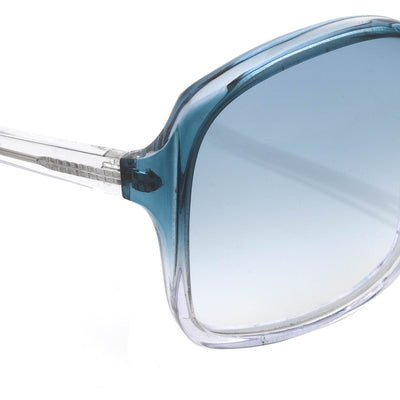 Antonio Berardi Women Sunglasses Oversized Frame Blue/Clear and Blue Graduated Lenses - 9AB2C3PETROL - Watches & Crystals