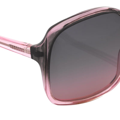 Antonio Berardi Women Sunglasses Oversized Frame Grey/Pink and Grey Graduated Lenses - 9AB2C2PINK - Watches & Crystals