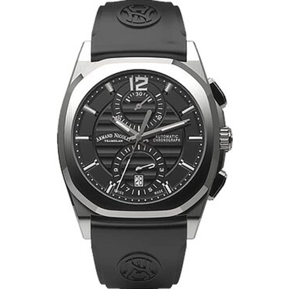 Armand Nicolet J09-3 Chronograph Black - Watches & Crystals