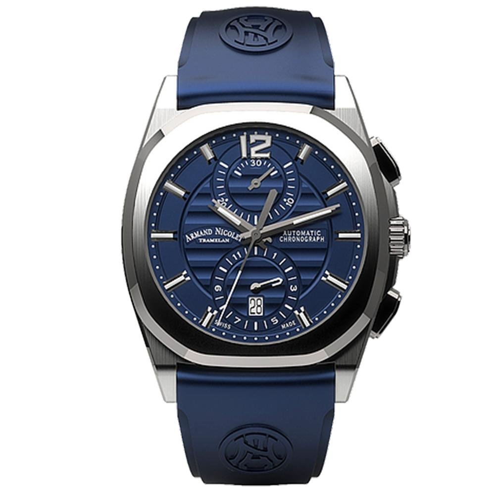 Armand Nicolet J09-3 Chronograph Blue Rubber - Watches & Crystals