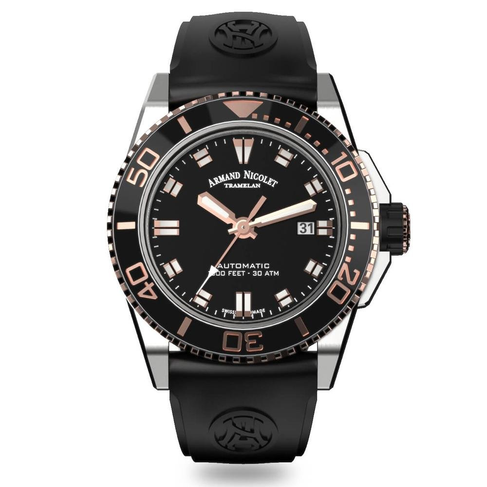 Armand Nicolet JS9-44 Black - Watches & Crystals