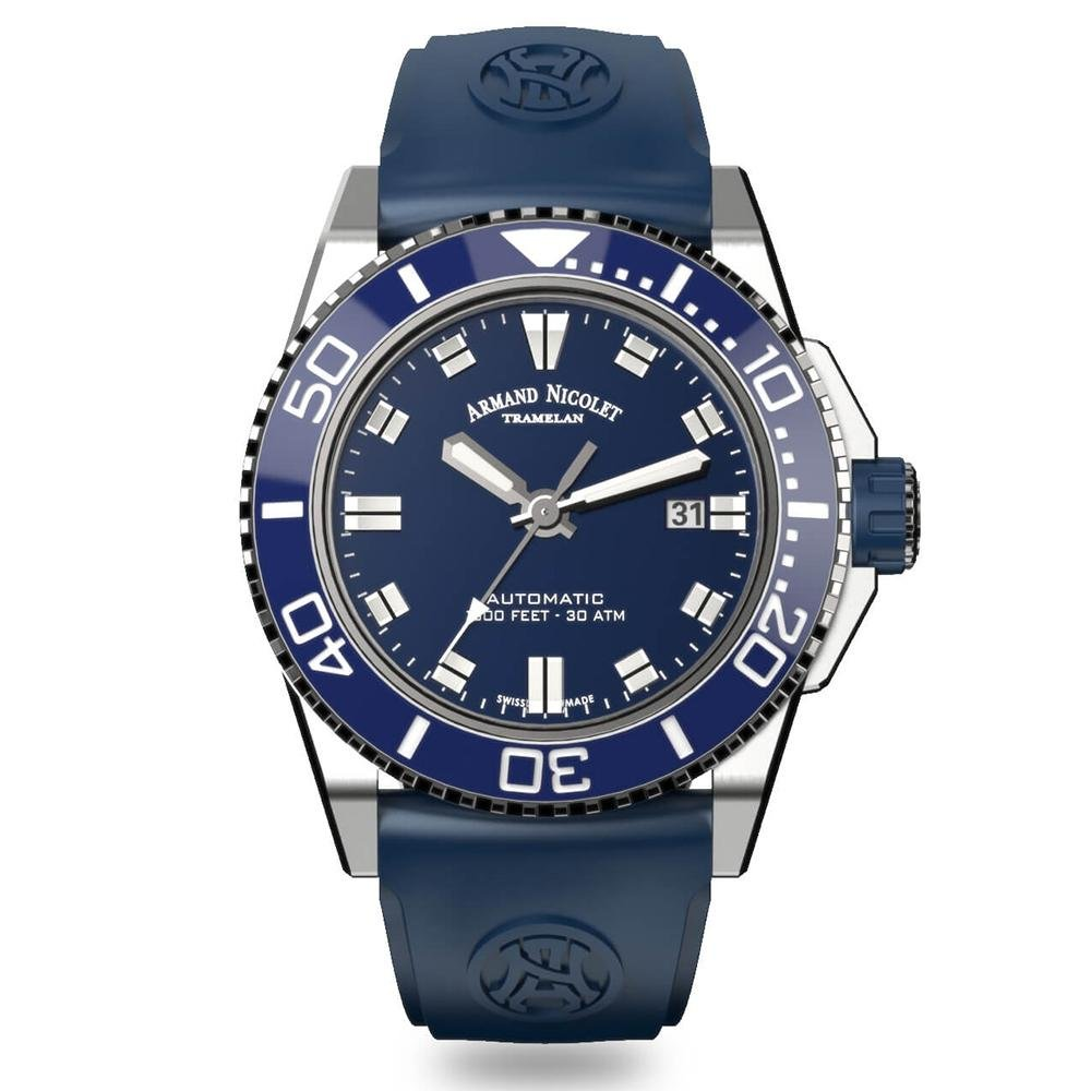 Armand Nicolet JS9-44 Blue - Watches & Crystals