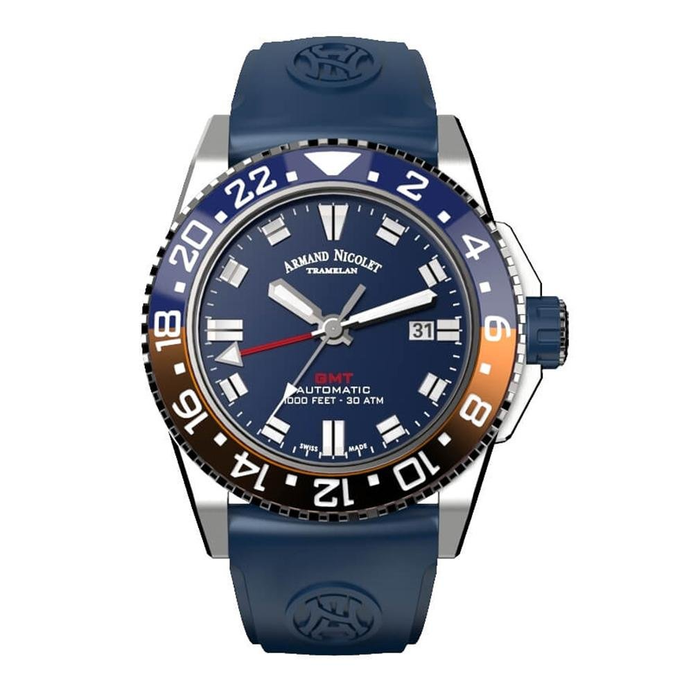 Armand Nicolet JS9-44 GMT Blue - Watches & Crystals