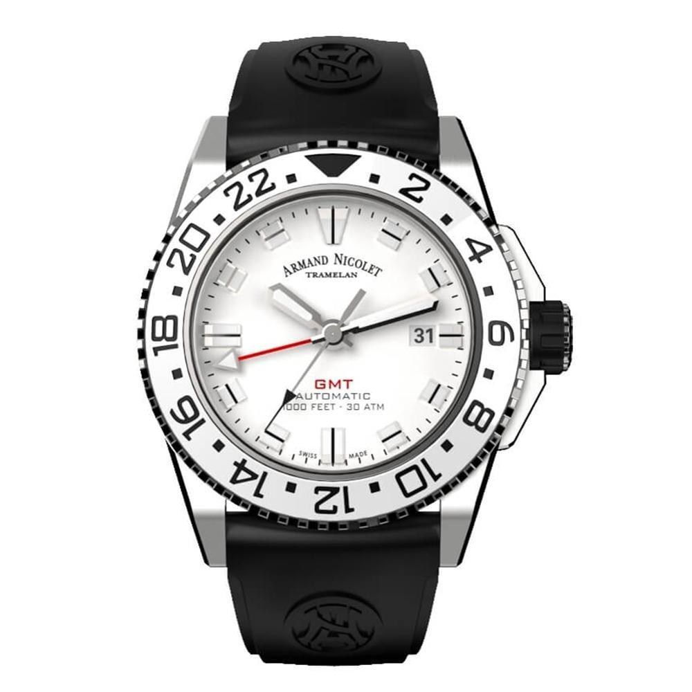 Armand Nicolet JS9-44 GMT Silver - Watches & Crystals