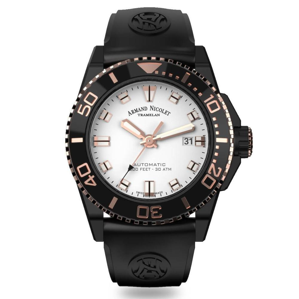 Armand Nicolet JS9-44 Silver/Rose - Watches & Crystals
