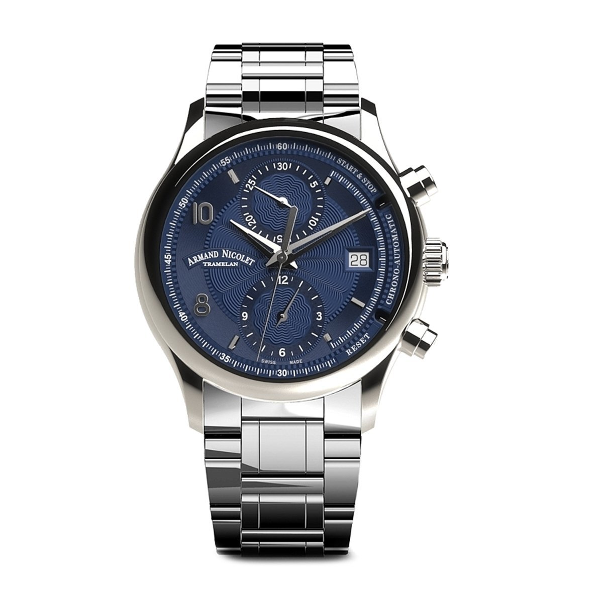 Armand Nicolet M02-4 Chronograph Blue Steel