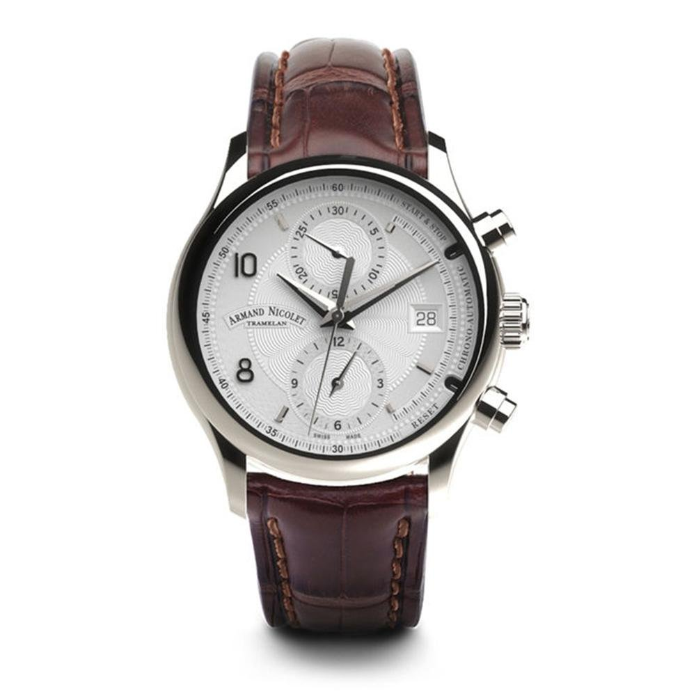 Armand Nicolet M02-4 Chronograph Silver Leather