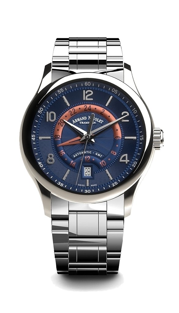 Armand Nicolet M02-4 GMT Blue Steel