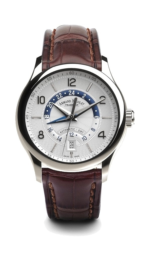 Armand Nicolet M02-4 GMT Silver