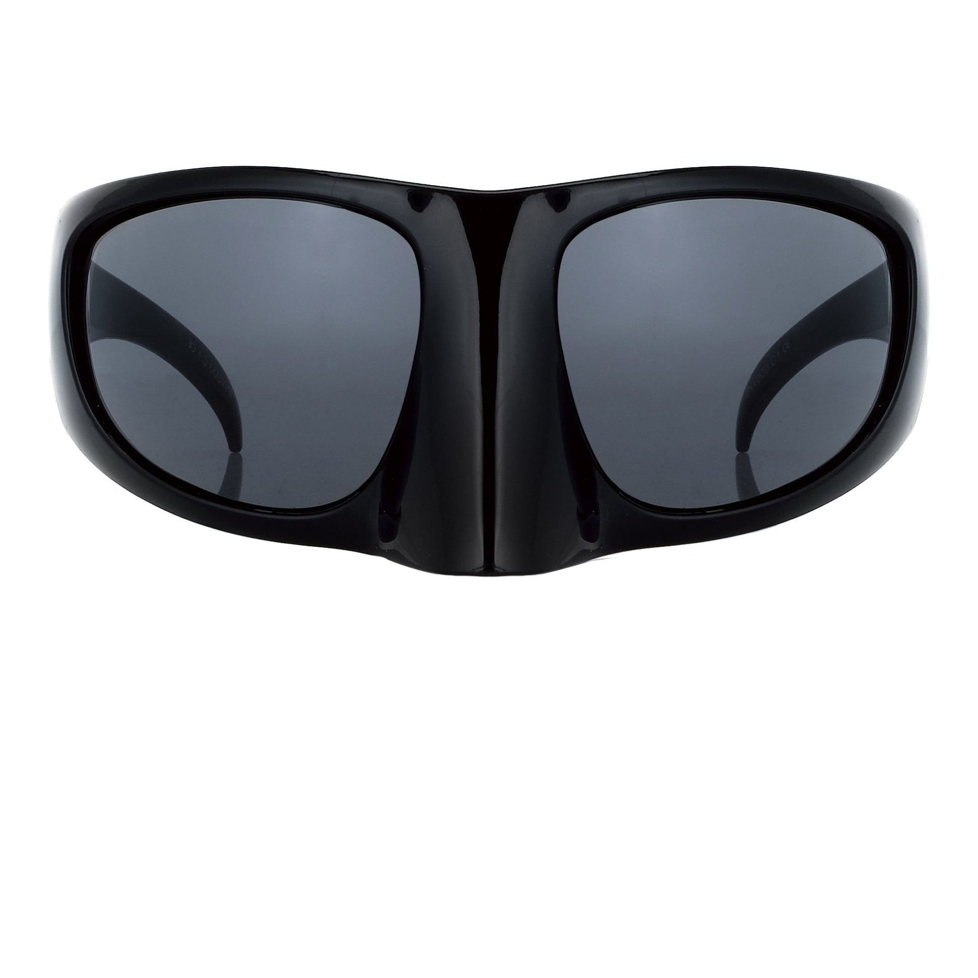 Bernhard Willhelm Sunglasses Black Mask With Blue Lenses 8BW3C1BLACK - Watches & Crystals
