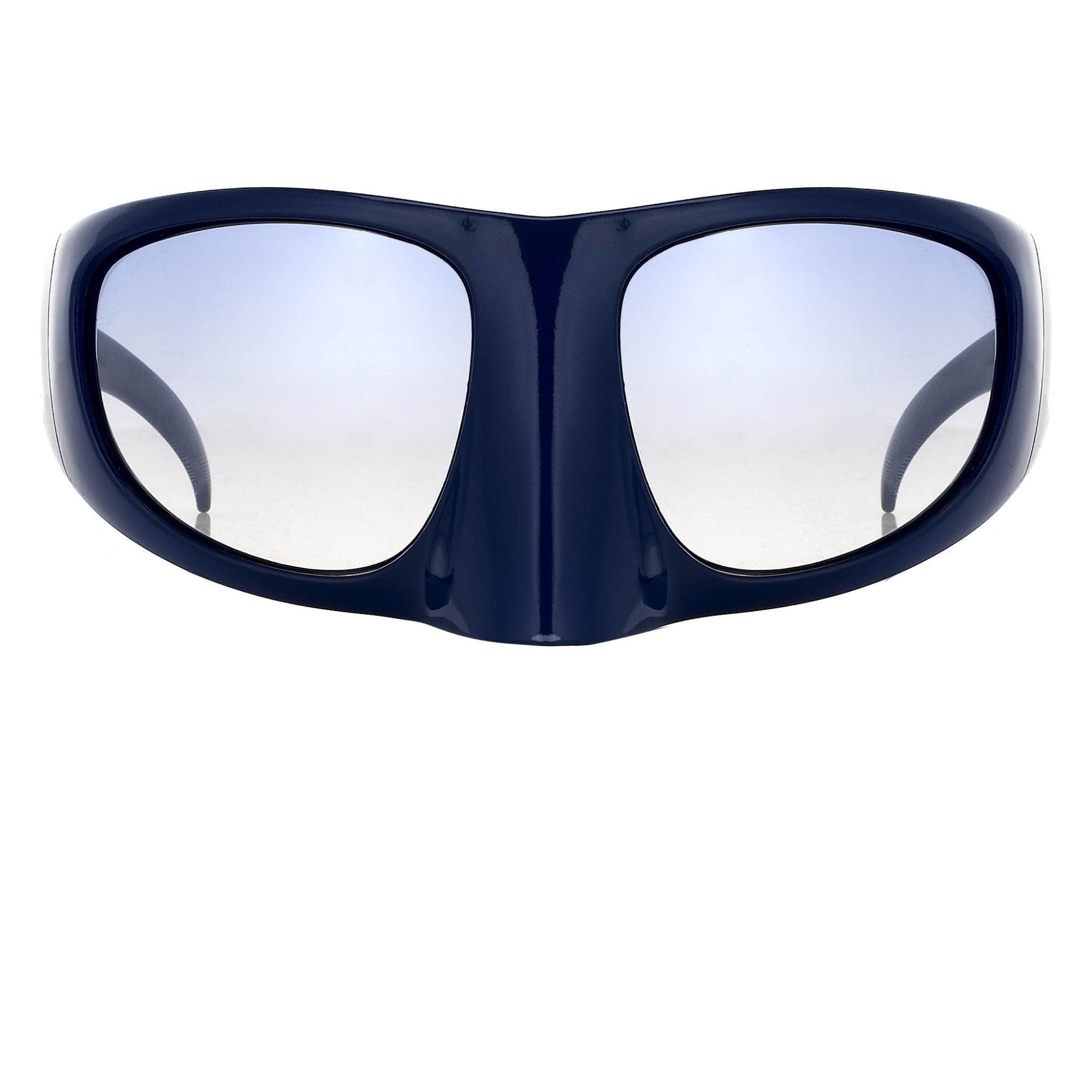 Bernhard Willhelm Sunglasses Blue Mask With Blue Graduated Lenses 8BW3C12BLUE - Watches & Crystals