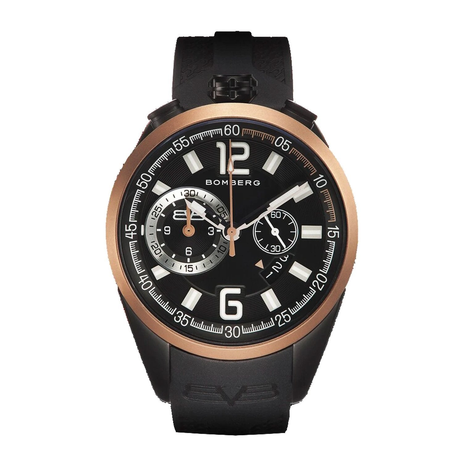 Bomberg 1968 Chronograph Black and Gold PVD - Watches & Crystals