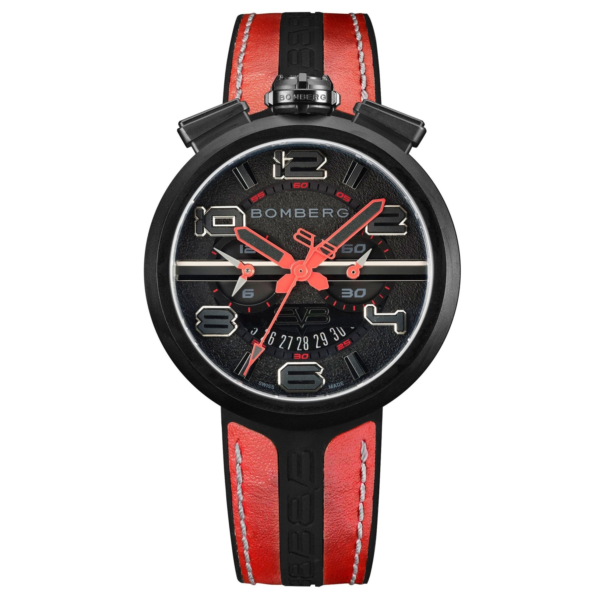 Bomberg 1968 Chronograph Black PVD - Watches & Crystals
