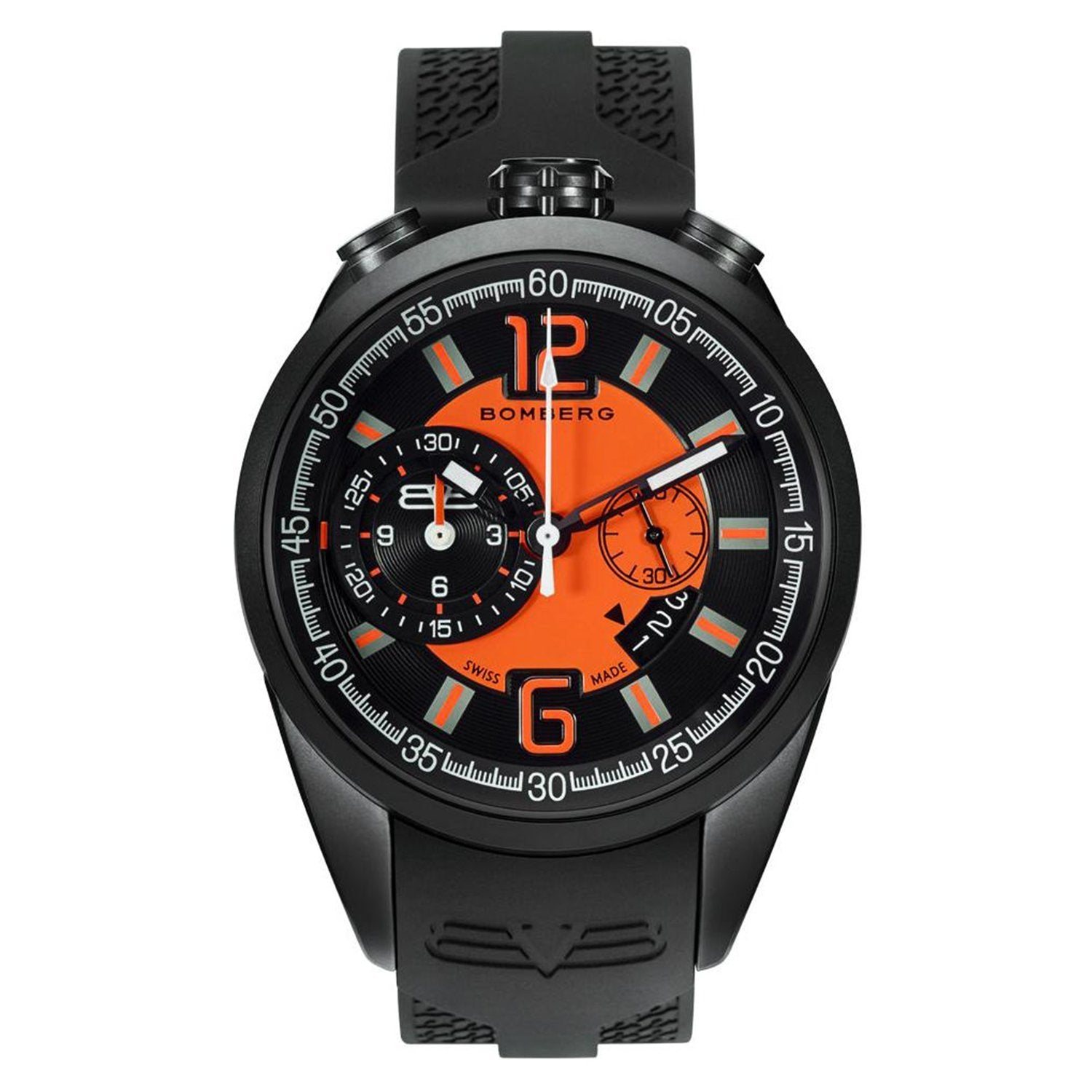 Bomberg 1968 Chronograph Black PVD Black - Watches & Crystals