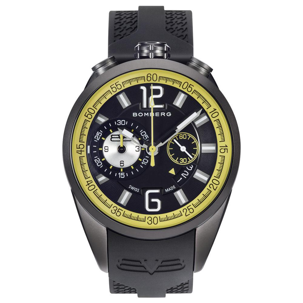 Bomberg 1968 Chronograph Black Yellow - Watches & Crystals