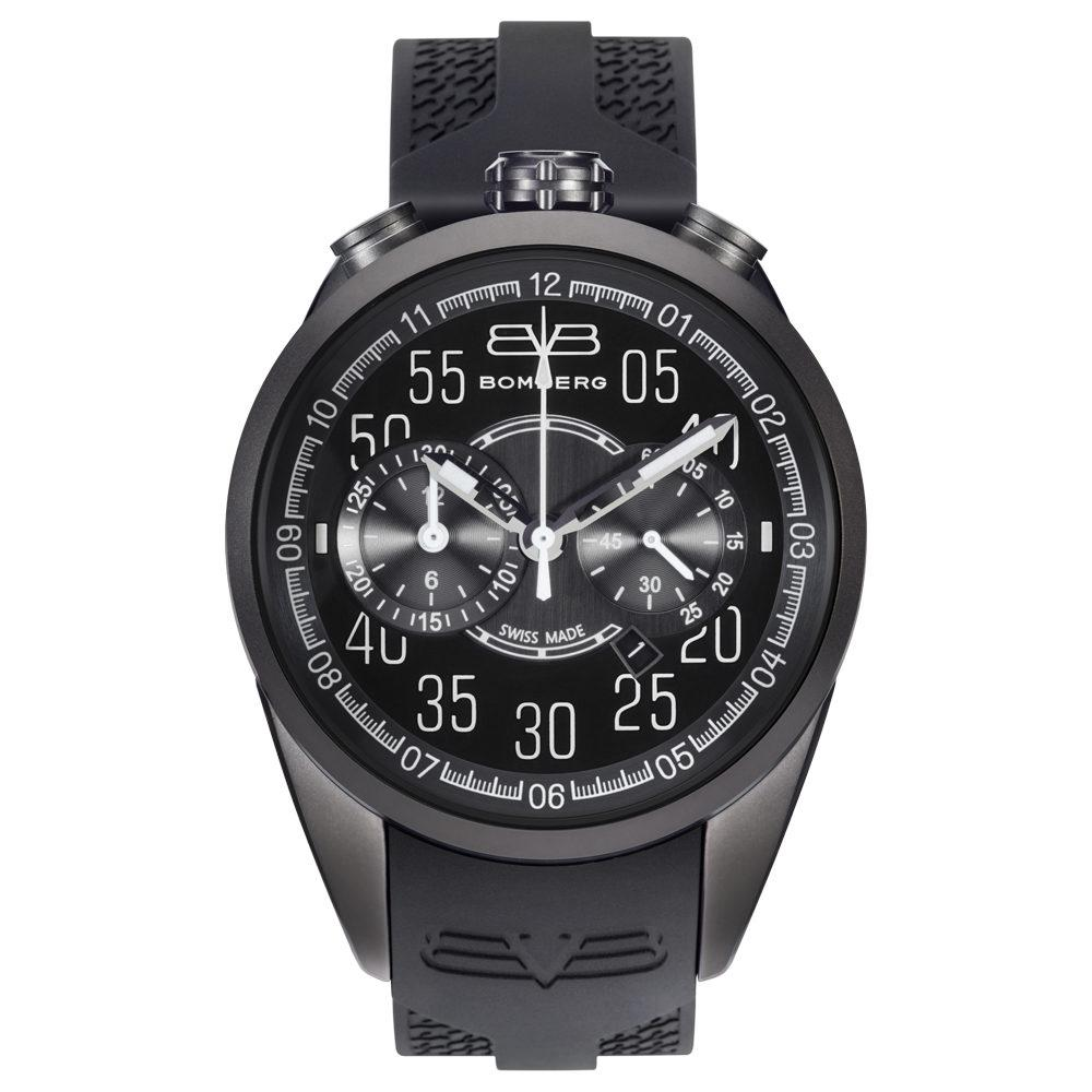 Bomberg 1968 Chronograph Matte Black - Watches & Crystals