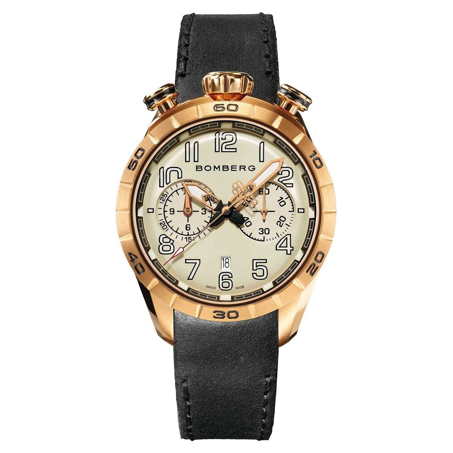 Bomberg BB-68 RACER Chronograph Rose Gold PVD