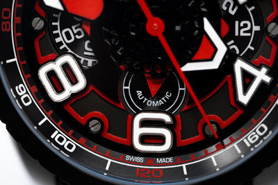 Bomberg BOLT-68 Automatic Chronograph Black PVD - Watches & Crystals