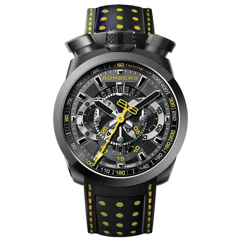 Bomberg BOLT-68 Chronograph Black Yellow - Watches & Crystals