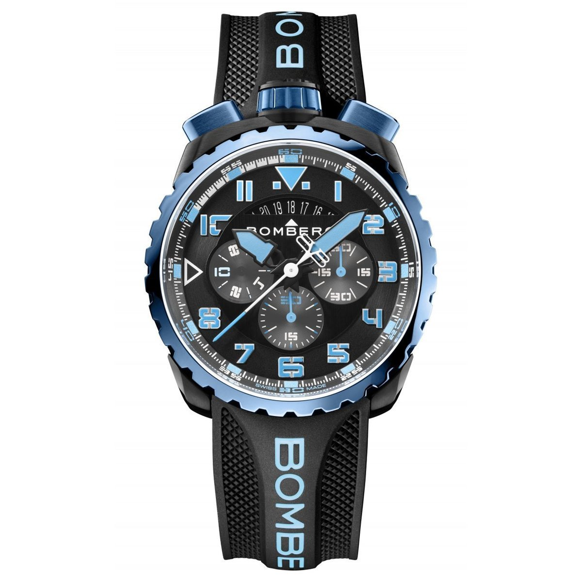 Bomberg BOLT-68 Chronograph Blue Black Special Edition - Watches & Crystals