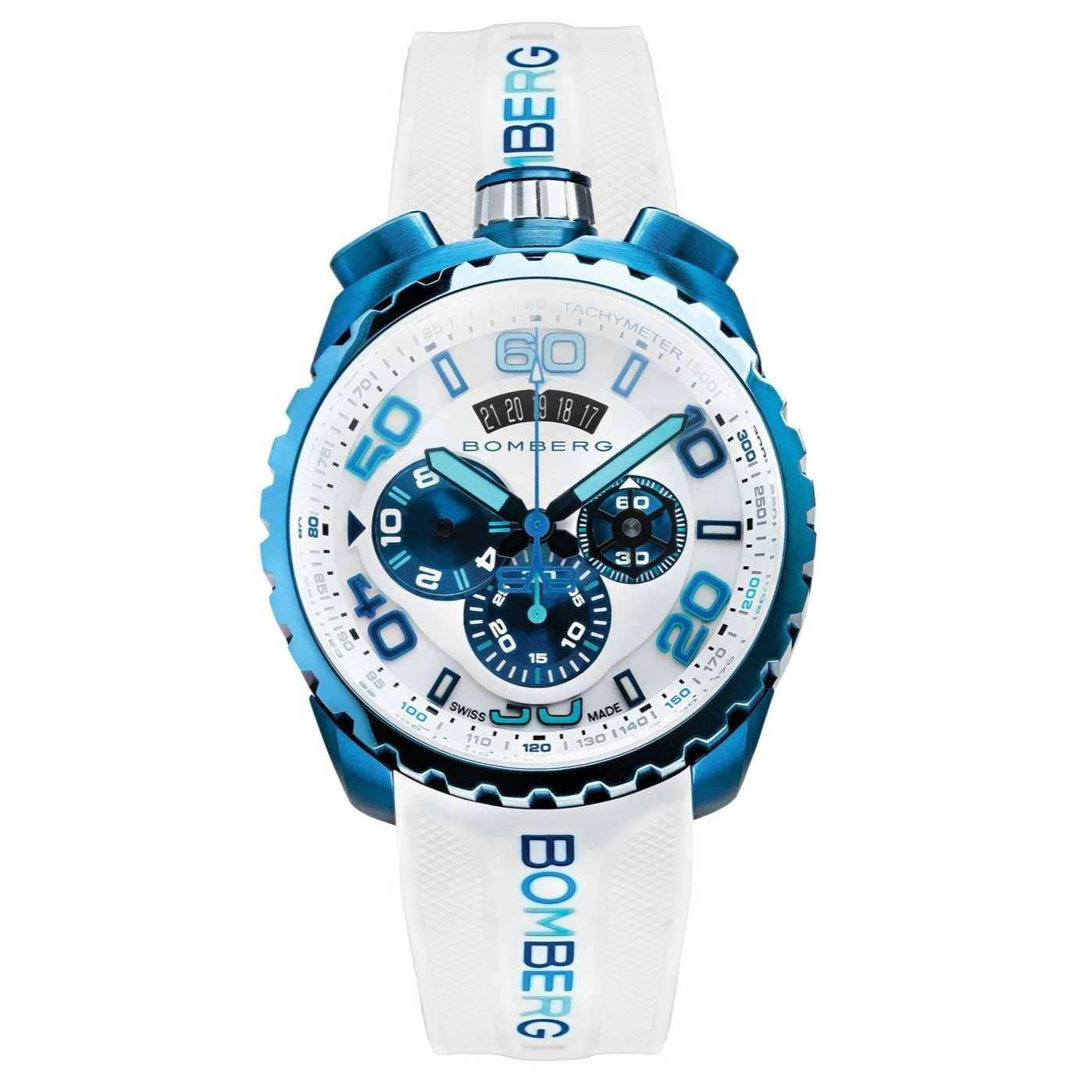Bomberg BOLT-68 Chronograph Blue PVD - Watches & Crystals
