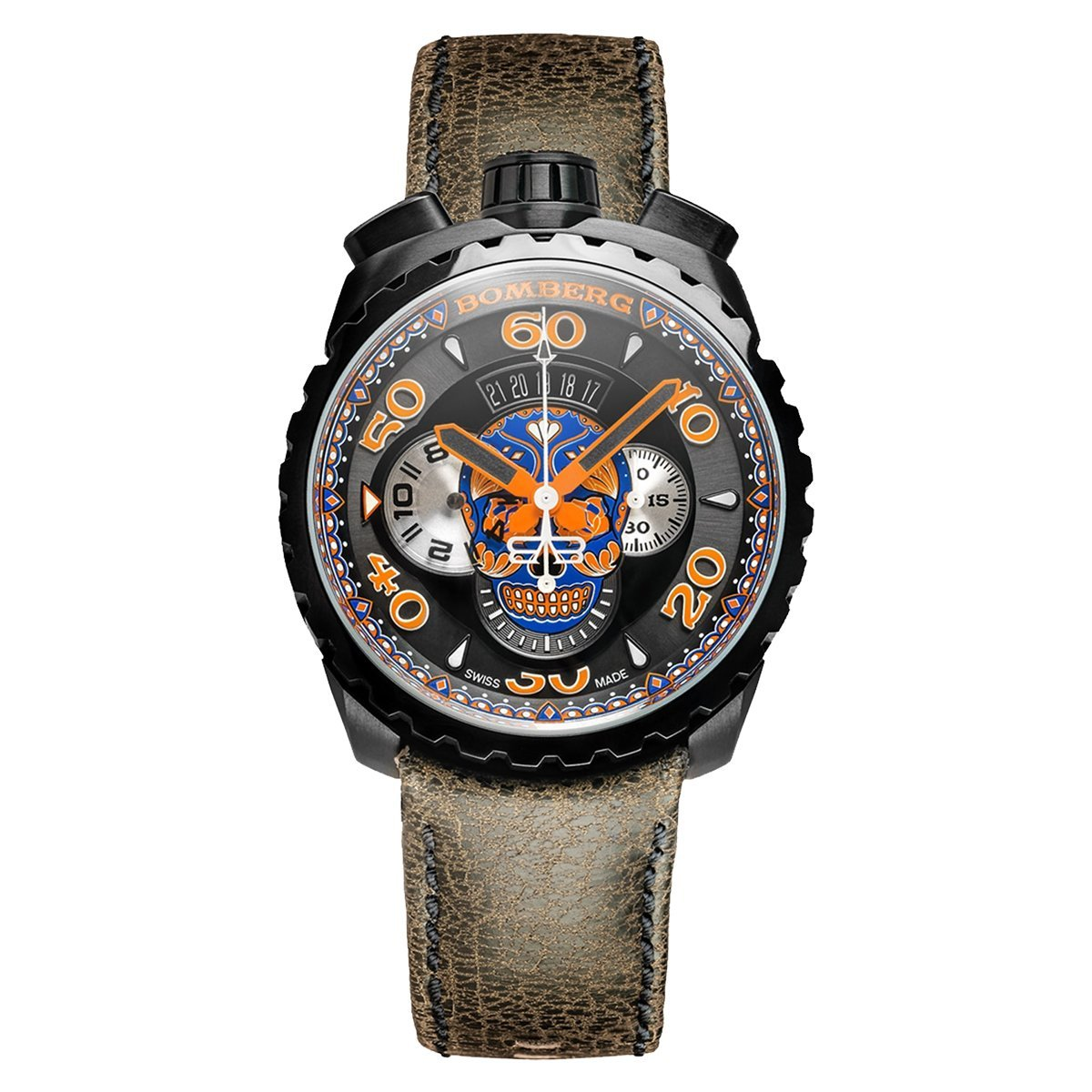Bomberg BOLT-68 Chronograph Blue Skull - Watches & Crystals