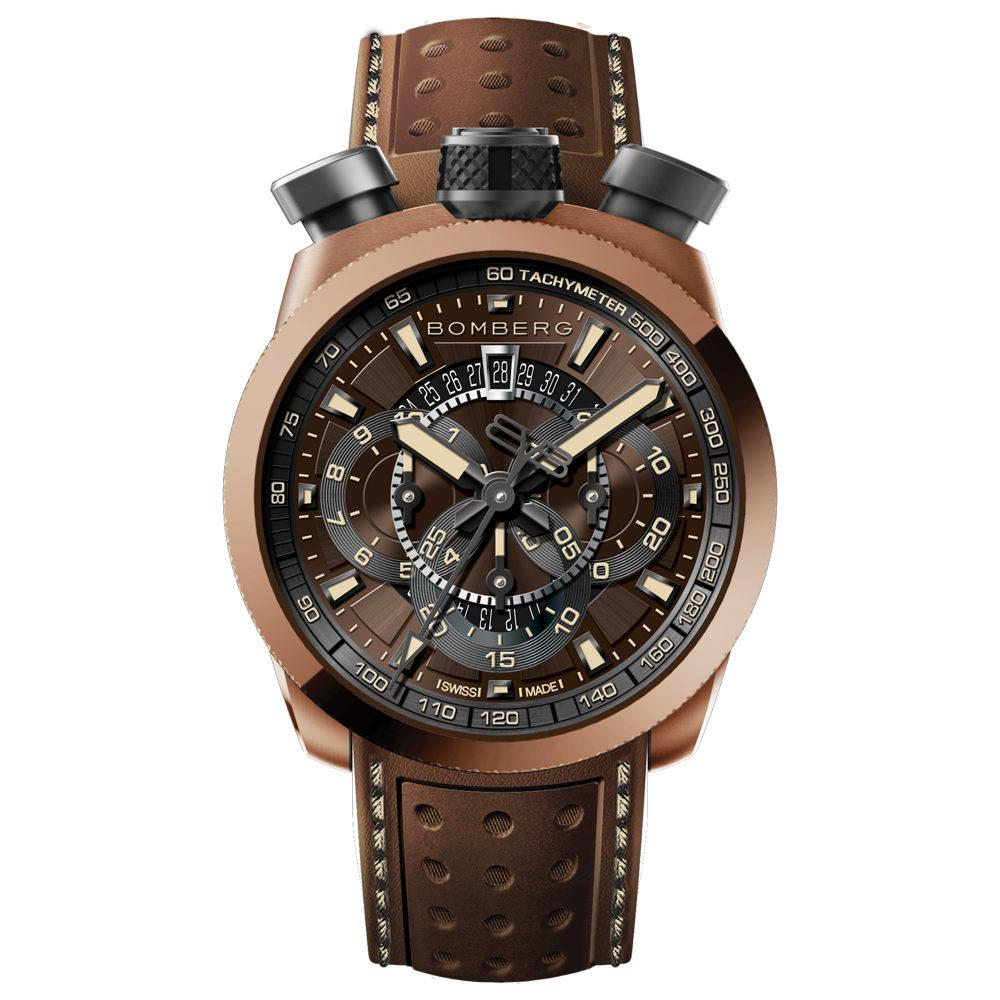 Bomberg BOLT-68 Chronograph Brown - Watches & Crystals