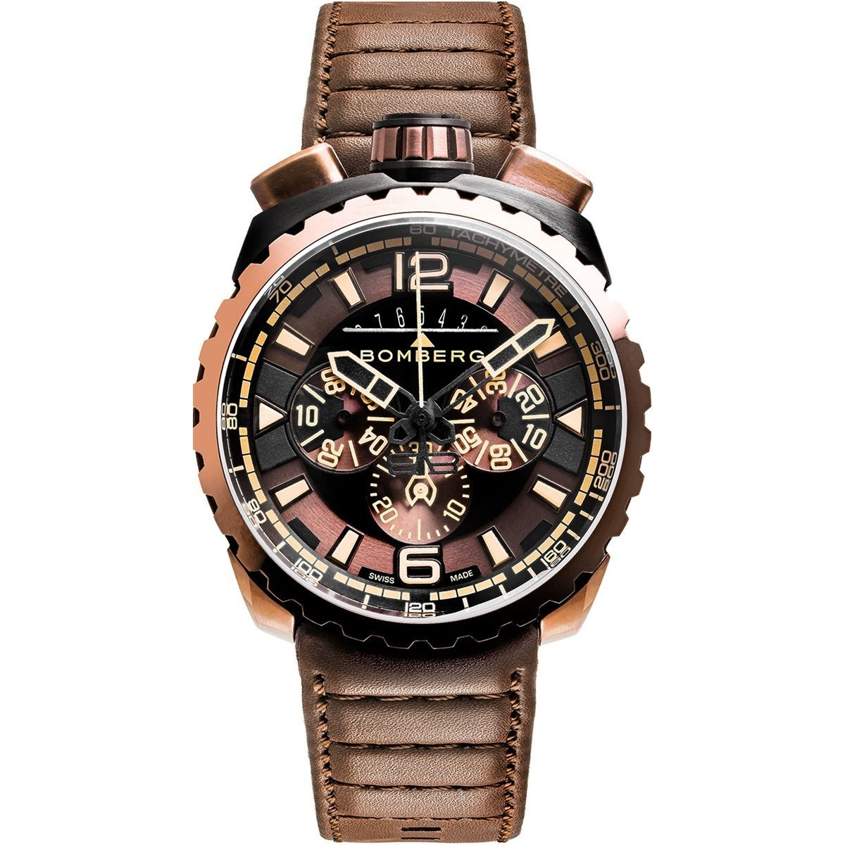 Bomberg BOLT-68 Chronograph Brown & Black PVD