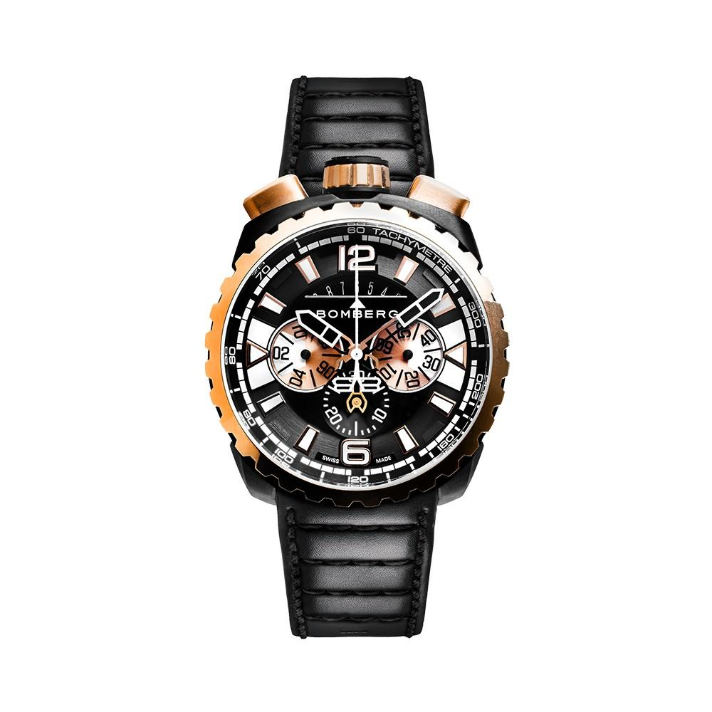 Bomberg BOLT-68 Chronograph Gold & Black PVD