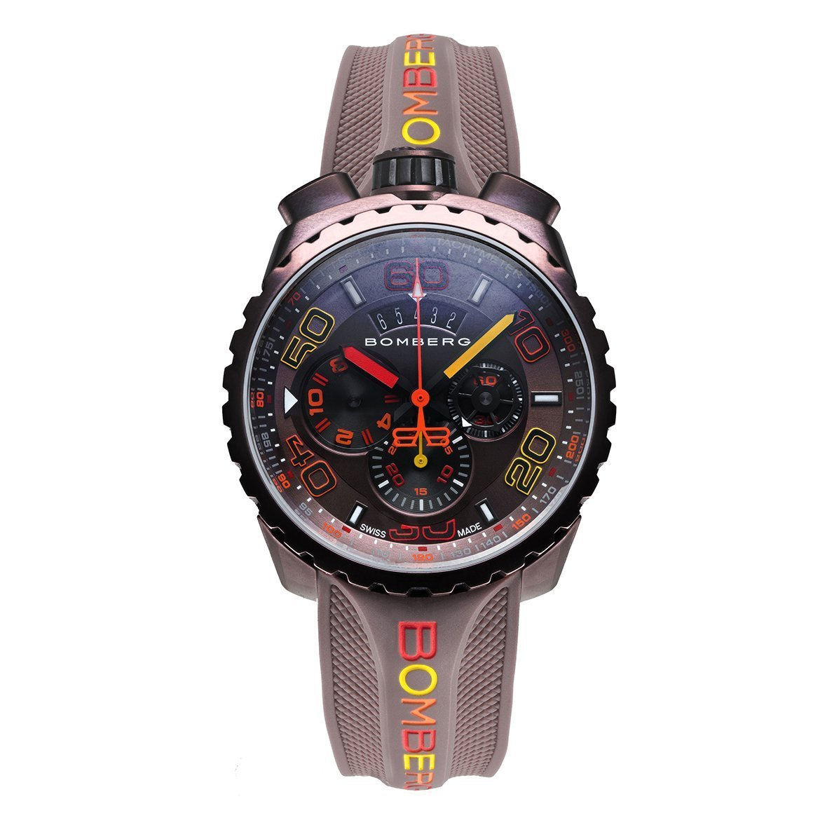 Bomberg BOLT-68 Chronograph Watch Brown PVD - Watches & Crystals