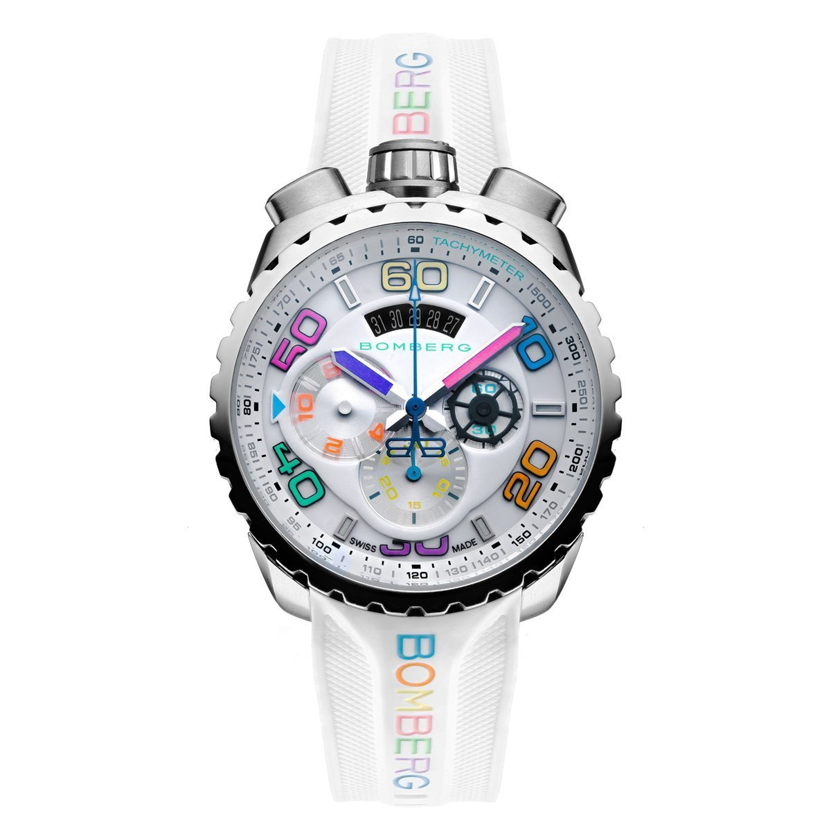 Bomberg BOLT-68 Chronograph White - Watches & Crystals