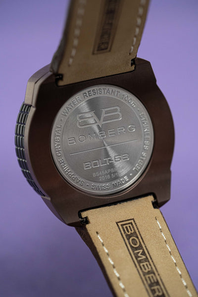 Bomberg BOLT-68 Watch Black and Brown PVD LIMITED EDITION - Watches & Crystals