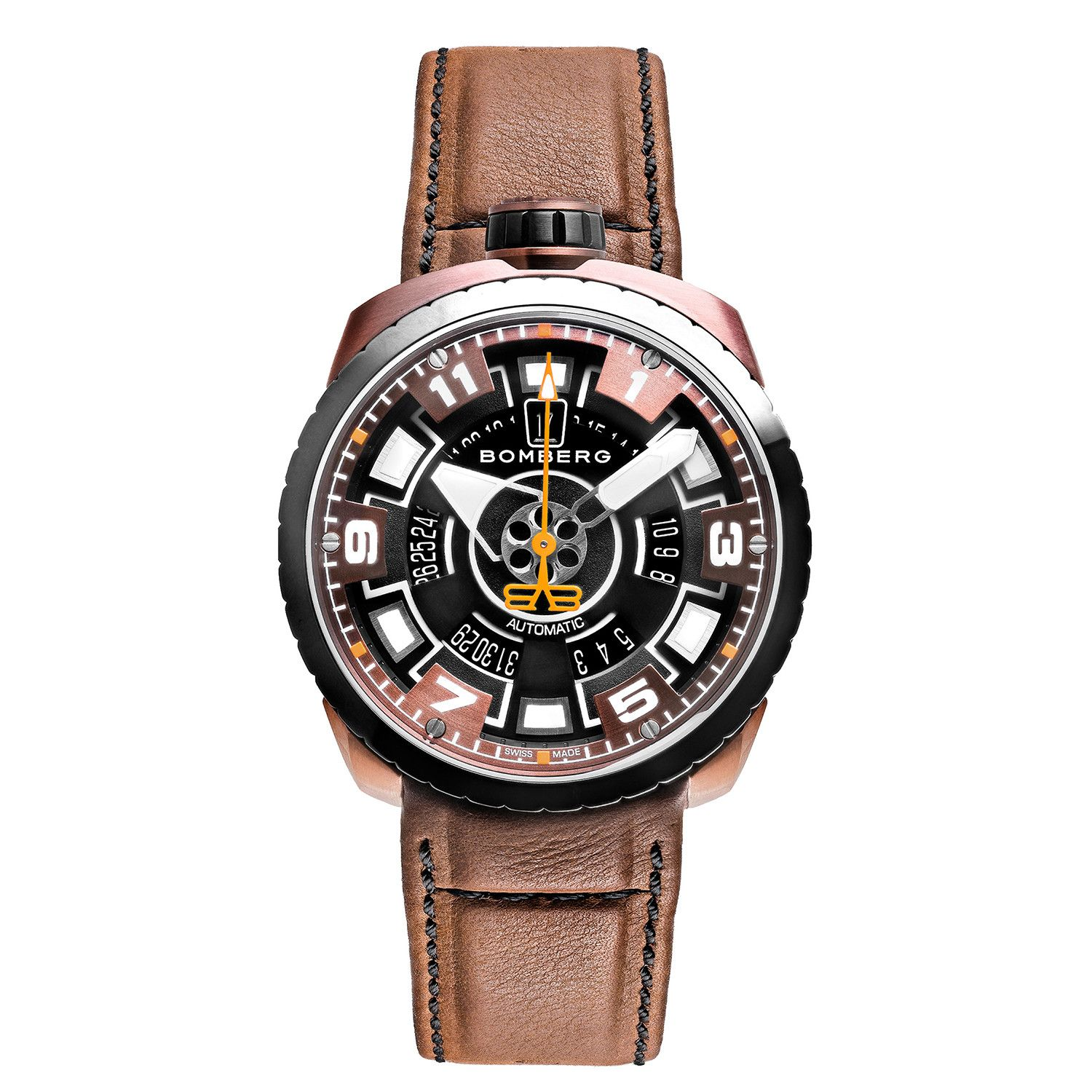 Bomberg BOLT-68 Watch Black and Brown PVD LIMITED EDITION