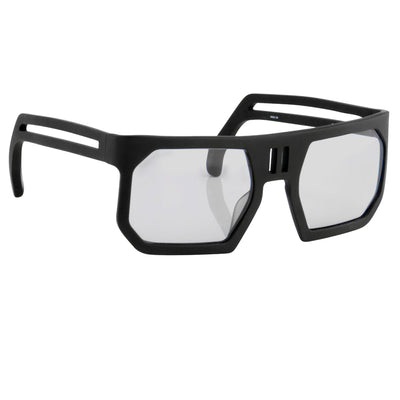 Boris Bidjan Saberi Sunglasses Rectangular Black With Grey Lenses BBS1C2SUN - Watches & Crystals