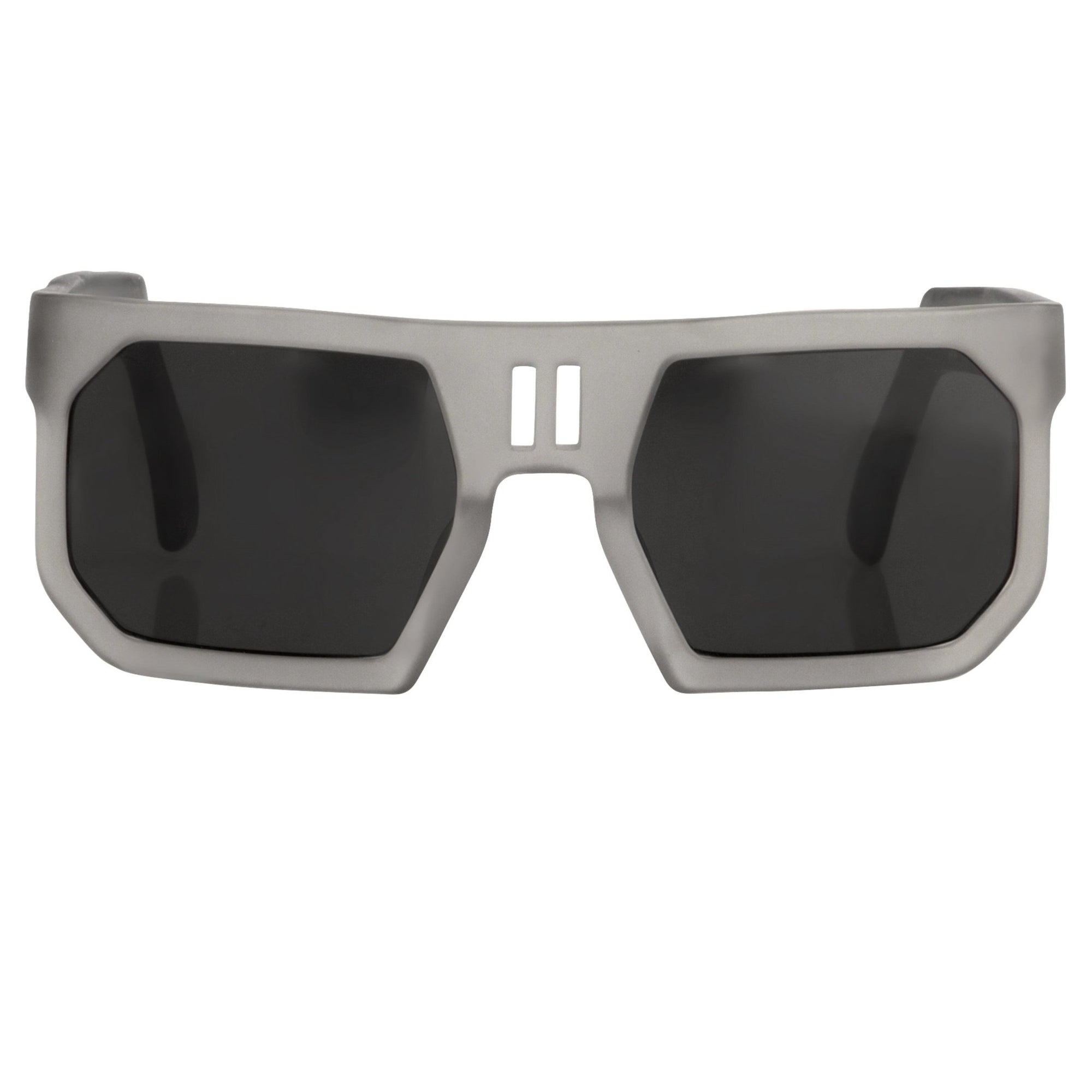Boris Bidjan Saberi Sunglasses Rectangular Transparent Pewter With Grey Category 3 Lenses BBS1C3SUN - Watches & Crystals