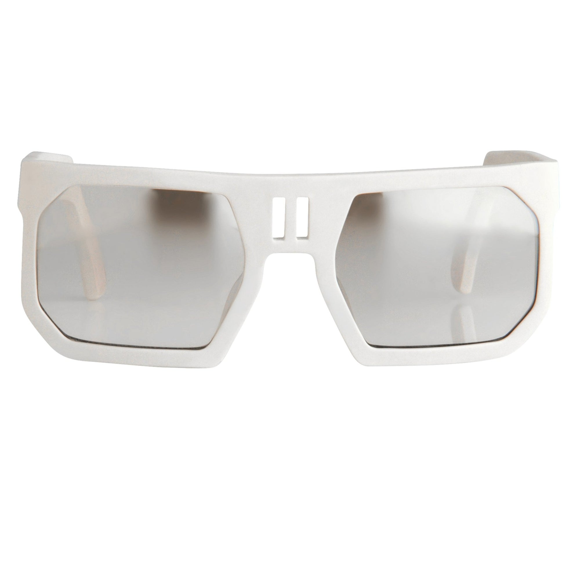 Boris Bidjan Saberi Sunglasses Rectangular White With Brown Graduated Lenses BBS1C1SUN - Watches & Crystals