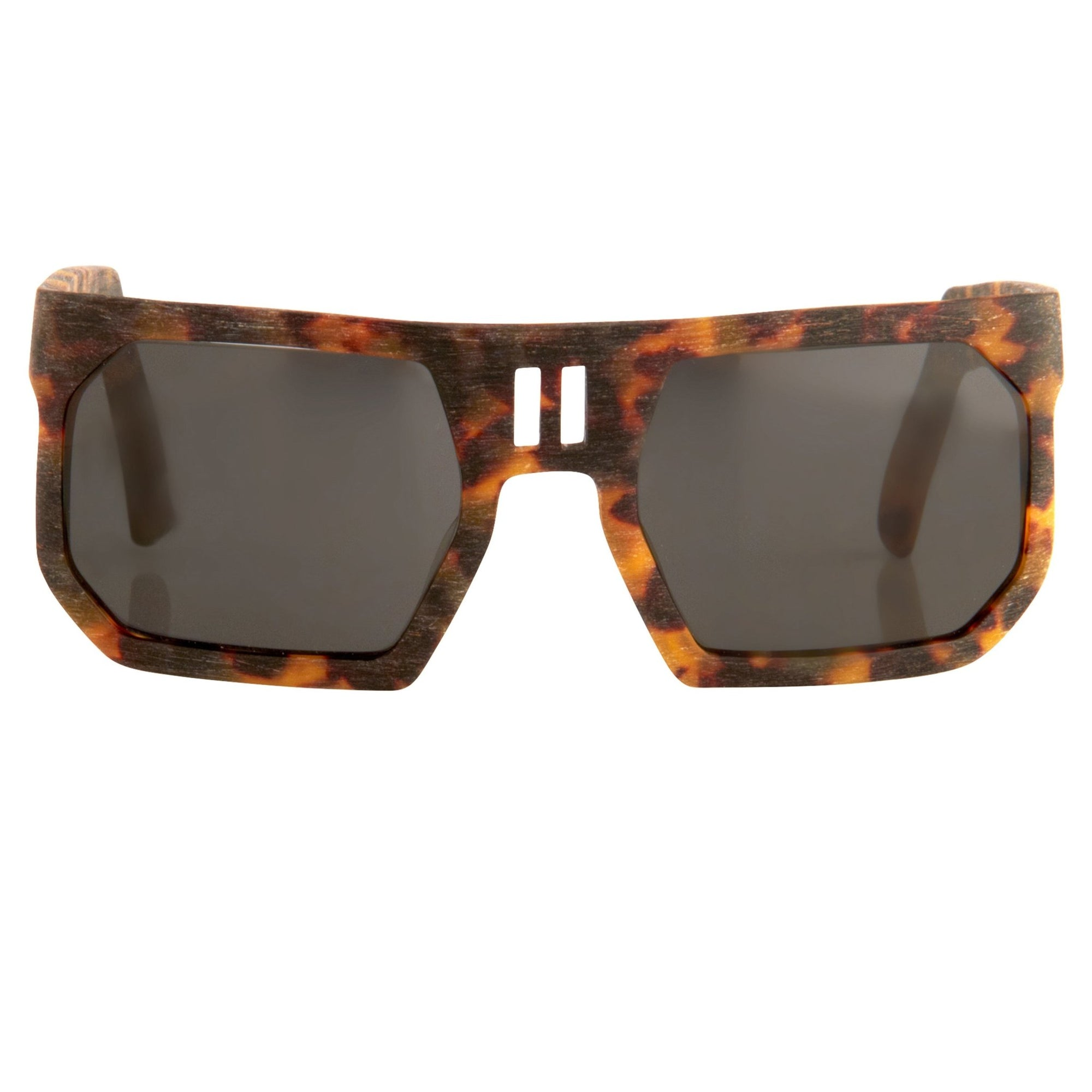 Boris Bidjan Saberi Sunglasses Rectangular Woody Tortoise Shell With Grey Category 3 Lenses BBS1C4SUN - Watches & Crystals