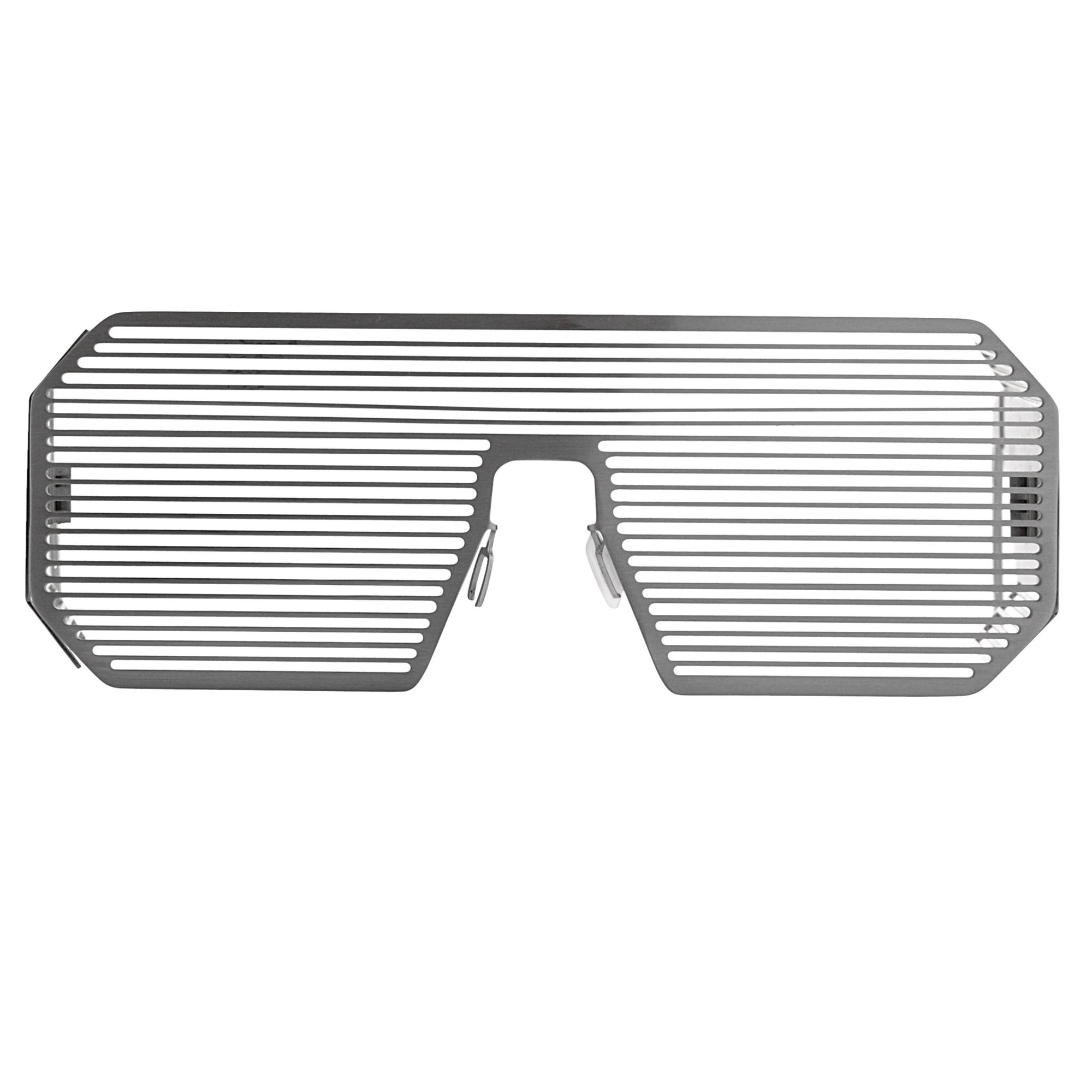 Boris Bidjan Saberi Sunglasses Shutter Rectangular Matte Silver BBS2C1SUN - Watches & Crystals