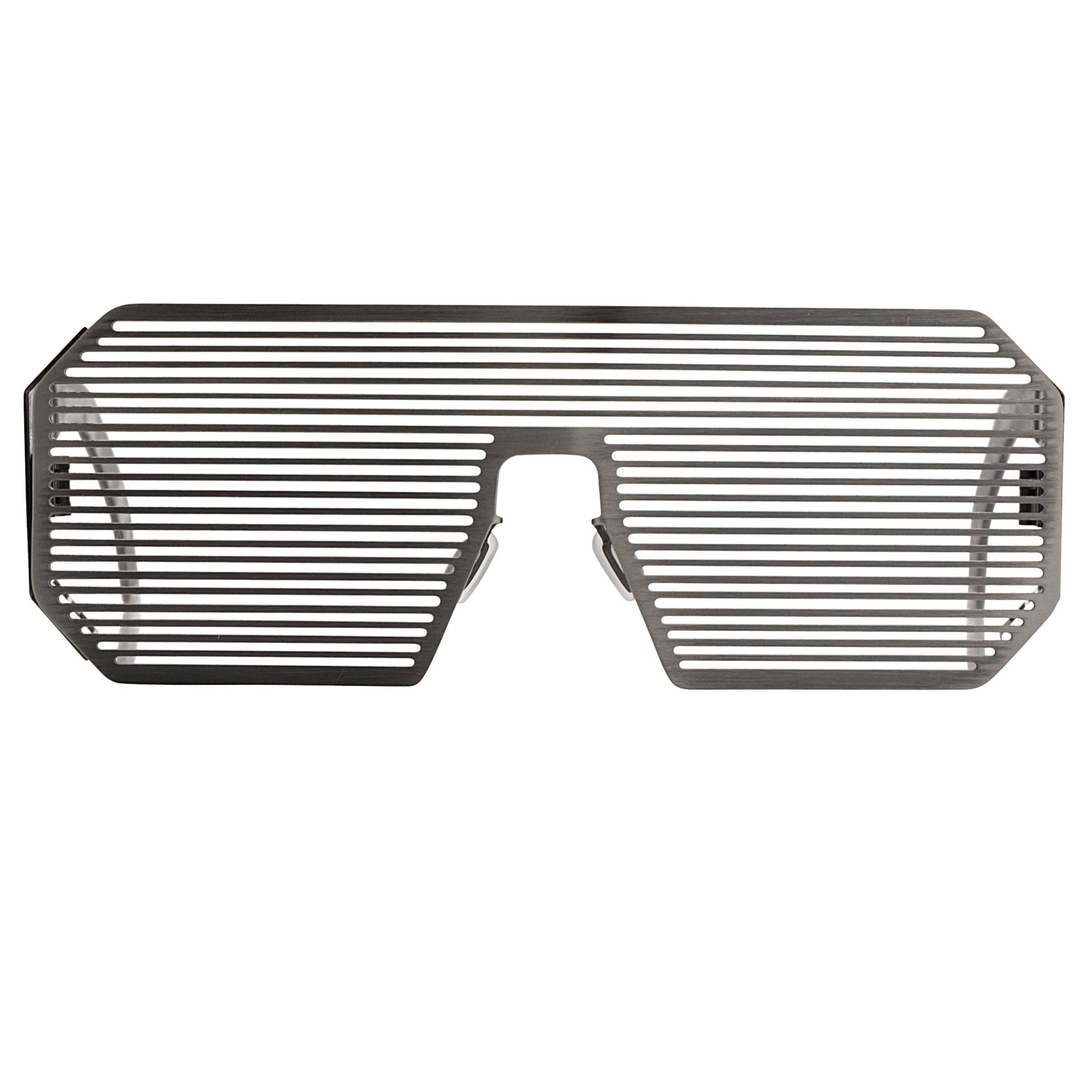Boris Bidjan Saberi Sunglasses Shutter Rectangular Oxidised Matte Silver BBS2C2SUN - Watches & Crystals