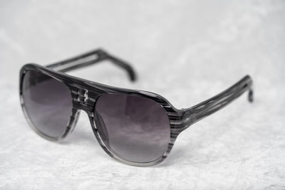 Boris Bidjan Saberi Sunglasses Striped Grey With Purple Graduated Category 3 Lenses BBS4C3SUN - Watches & Crystals