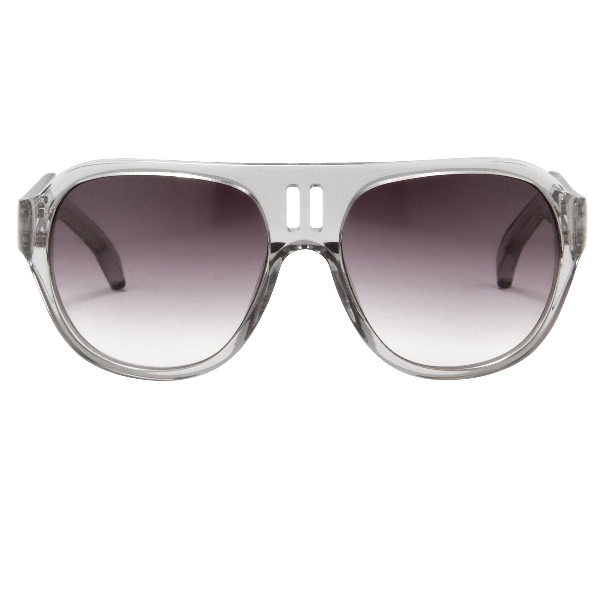 Boris Bidjan Saberi Sunglasses Translucent Smoke With Purple Graduated Category 3 Lenses BBS4C5SUN - Watches & Crystals